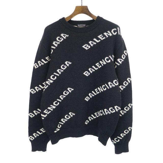 BALENCIAGA ジャガードロゴニットセーター
