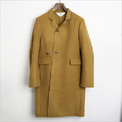 SUNSEA 15AW Cut Off Melton Coat