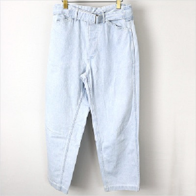 COMOLI 16SS Belted Denim Pants