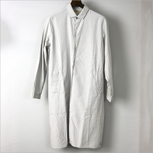 AUGUSTE-PRESENTATION 16SS 比翼レギュラーカラーロングシャツ グレー