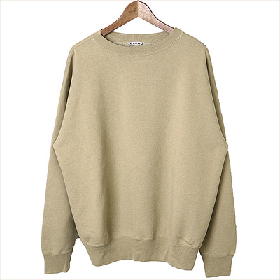 AURALEE 17AW BACK WOOL SWEAT BIG P/O