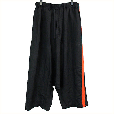 16SS Yohji Yamamoto POUR HOMME Red Tape Side Band Trousers