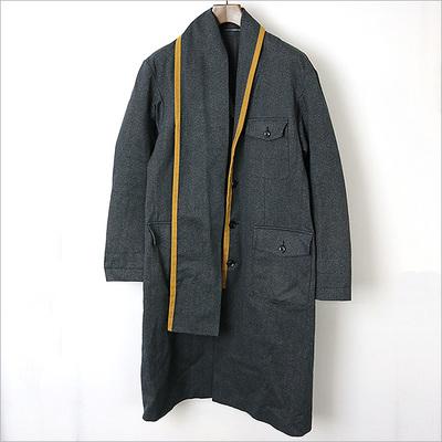 Yohji Yamamoto POUR HOMME 17AW LOOK4 Cotton Scarf Collar Coat
