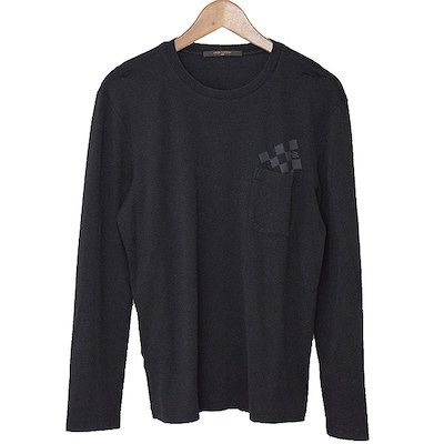 Louis Vuitton 14SS Damier Pocket Long Sleeve T-Shirt