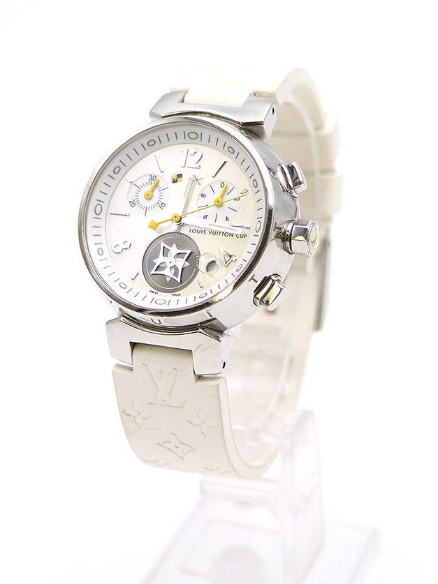 LOUIS VUITTON Q132C タンブール ラブリーカップクロノグラフクォーツ腕時計
