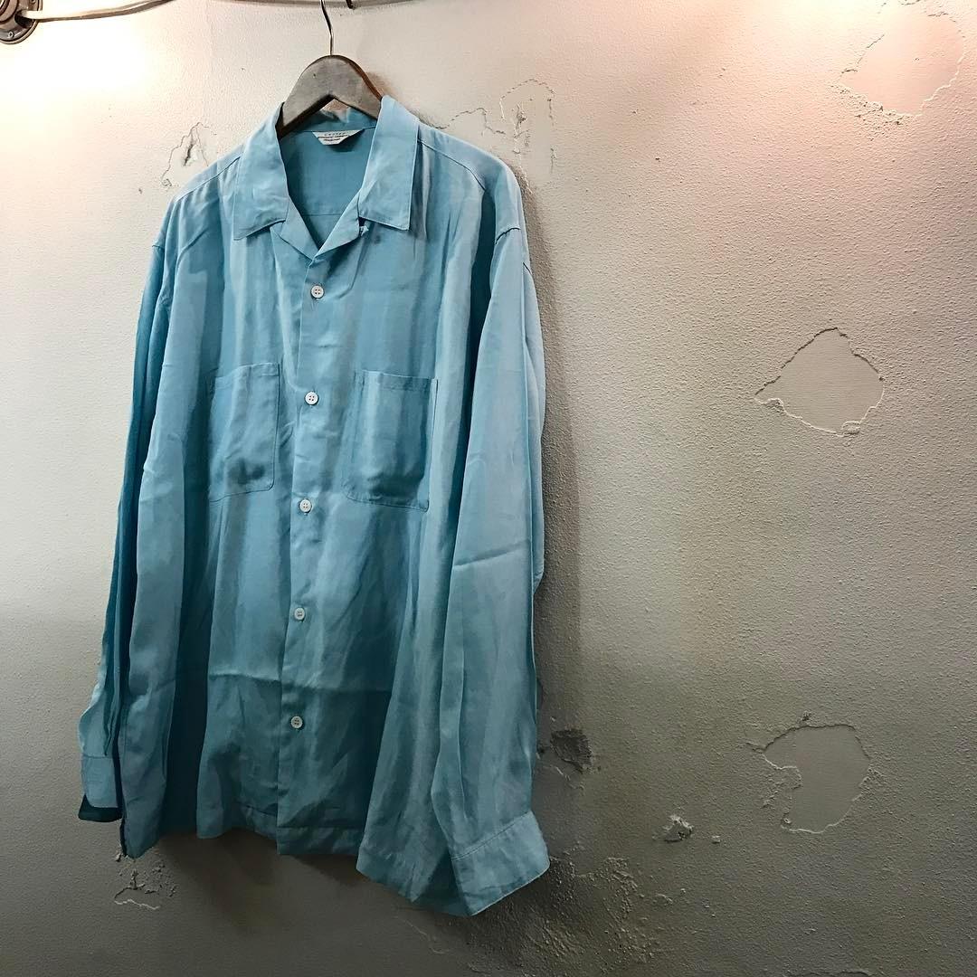 UNUSED 17SS open collar shirt シルク混オープンカラーレーヨンシャツ