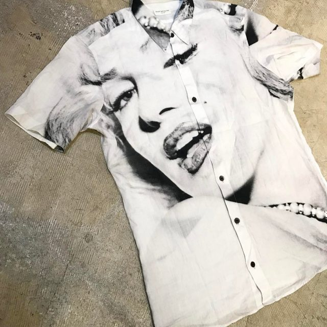 DRIES VAN NOTEN 16SS マリリン・モンロープリントショートスリーブシャツ