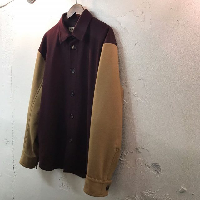 MARNI 17AW Bicolor wool shirt jacket