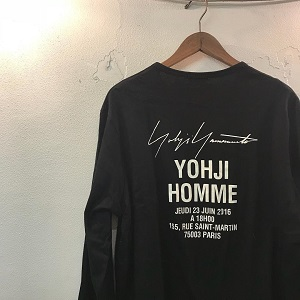 Yohji Yamamoto POUR HOMME 17SS STAFF PRINT LONG SLEEVE CUT SEW