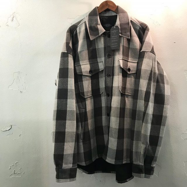 UNUSED 17AW block check shirt jacket