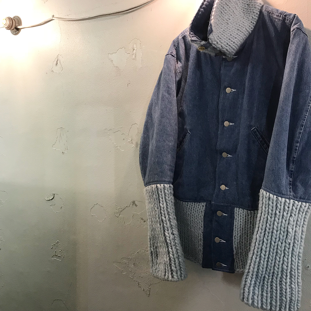 DIGAWEL 17AW DENIM KNIT BLOUSON