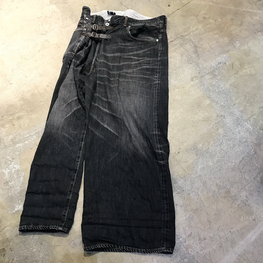 FACETASM 10SS SLIM BIG DENIM PANTS