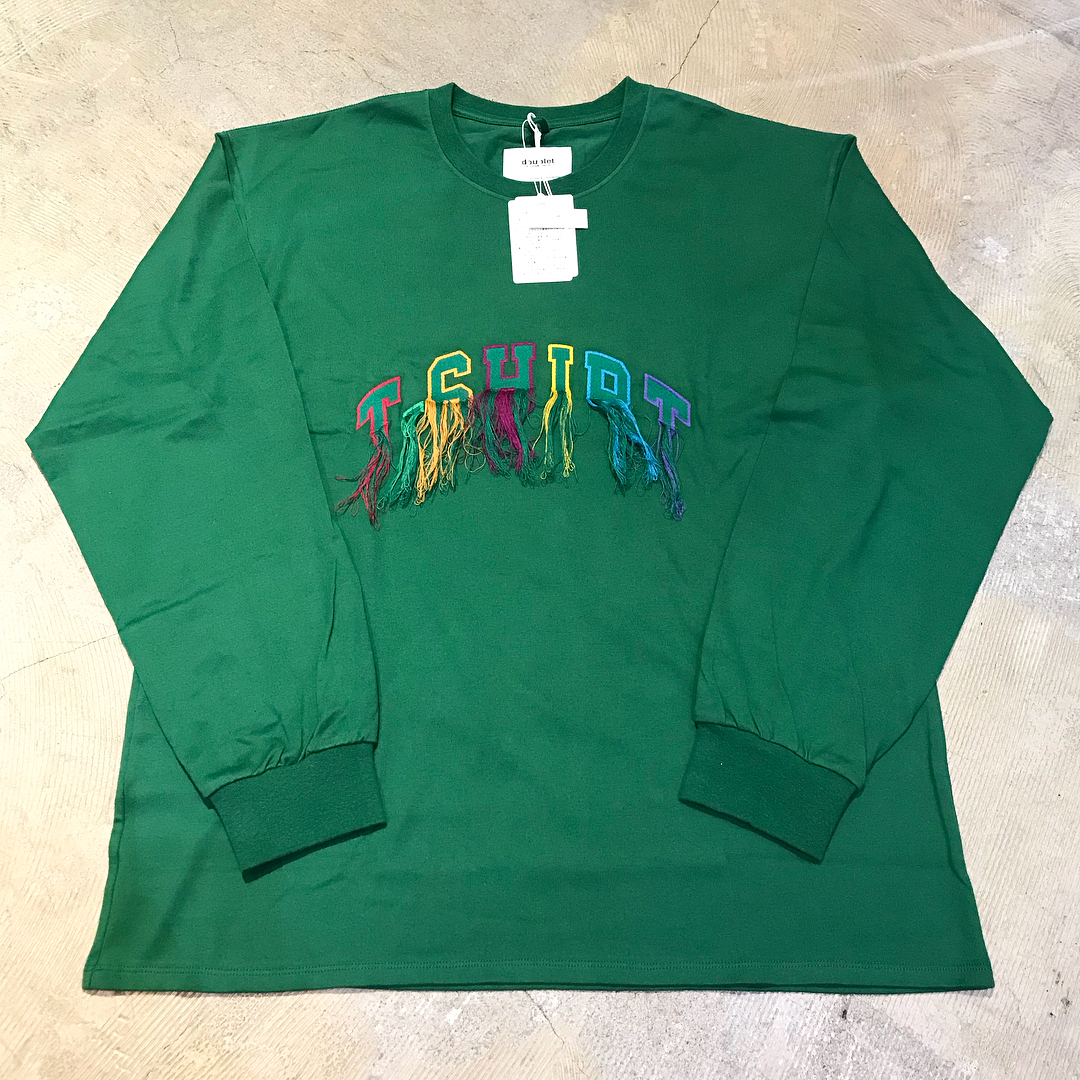 doublet 18SS FLYING T-SHIRT EMBROIDERY LONG SLEEVE