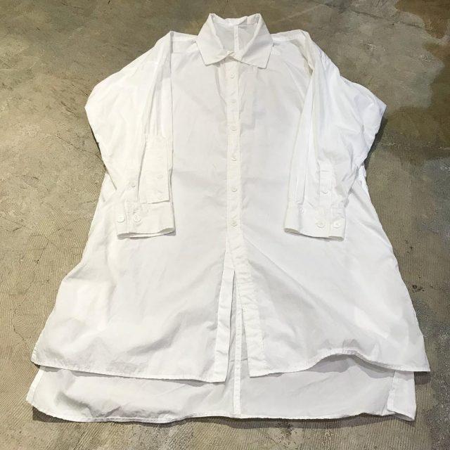 Yohji Yamamoto POUR HOMME 17AW 環縫ブロードW-環縫ビッグシャツ