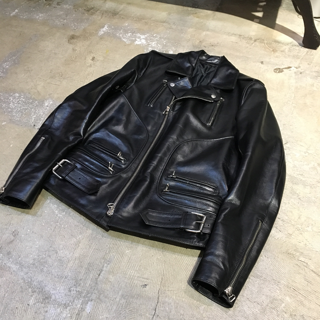 BALMAIN HOMME 09AW ホースレザーパーフェクトライダースジャケット