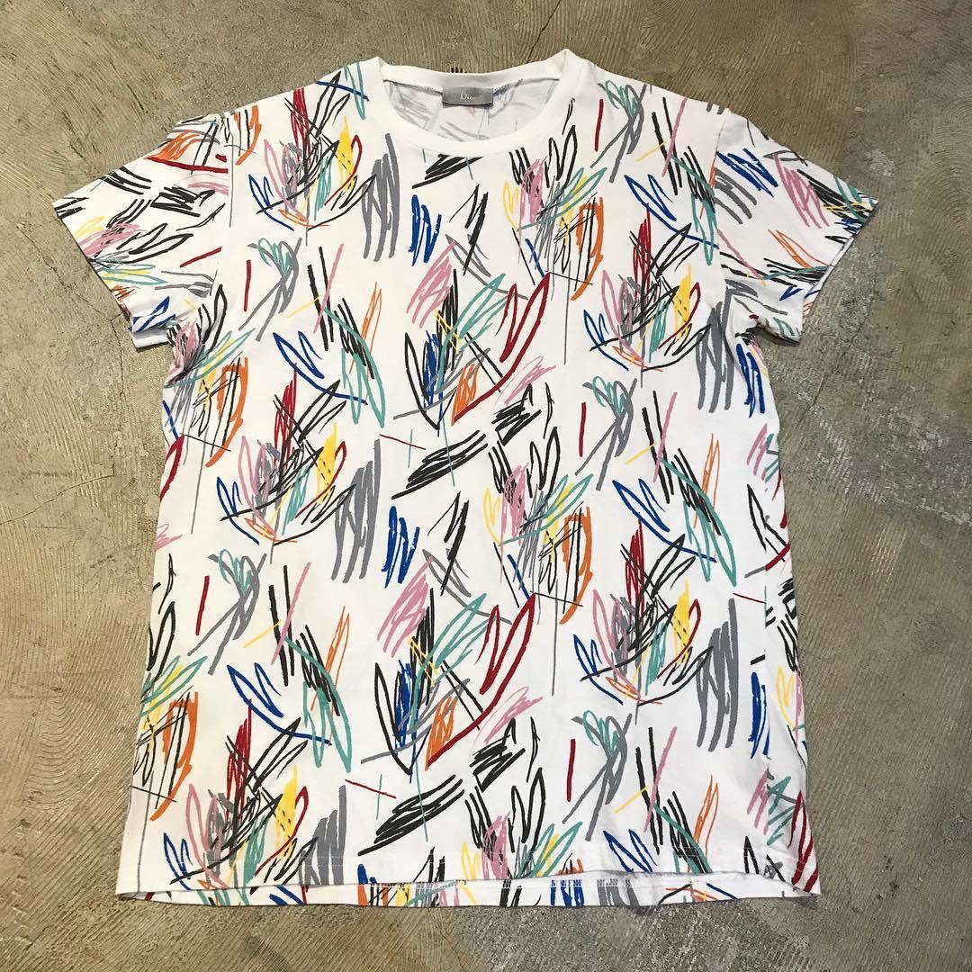 Dior Homme 15SS マルチカラードローイングTシャツ