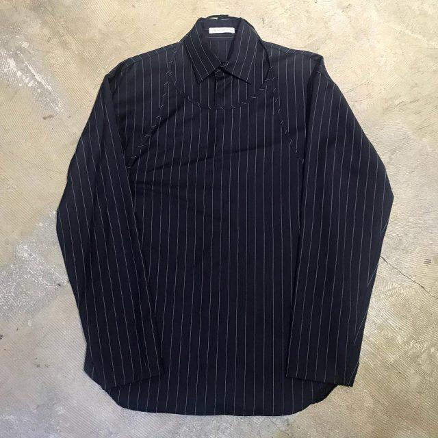 J.W. ANDERSON 15SS LOOK4 ピンストライプ柄エプロンレイヤードシャツ