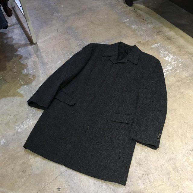 COMME des GARCONS HOMME Tweed Bal Collar Coat
