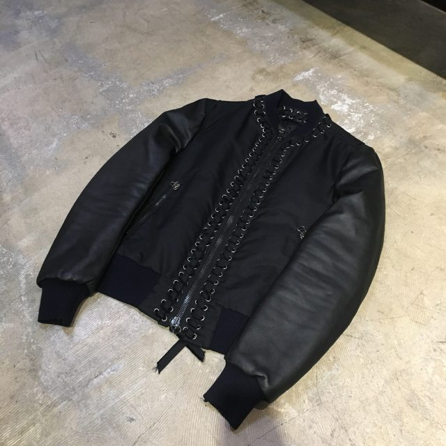 LANVIN 15AW LOOK40 Lace Up Bomber Jacket