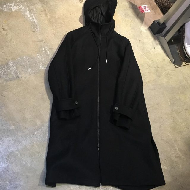 THE RERACS 17AW HOODED MELTON COAT Super 140's