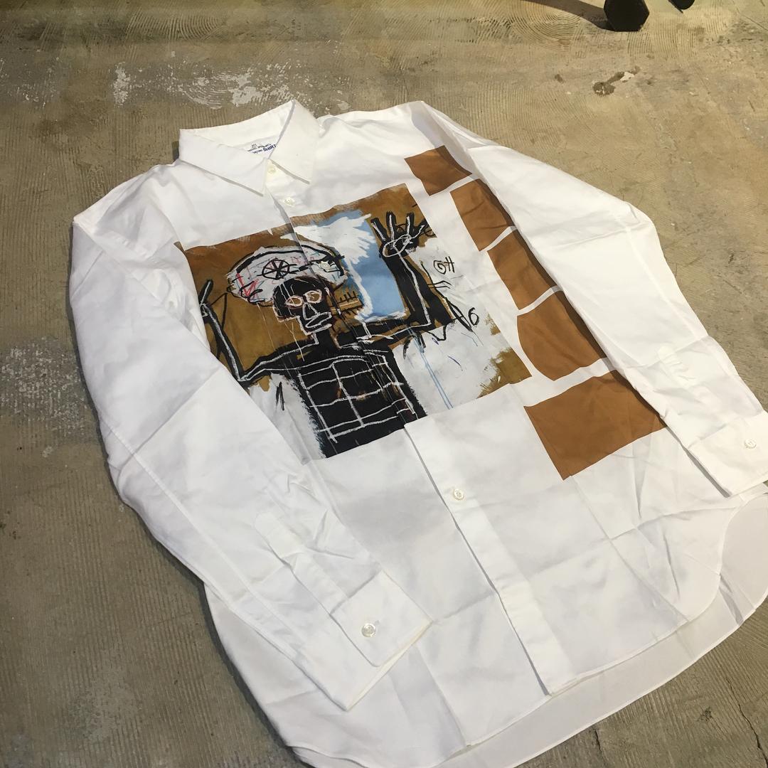 Comme des Garcons SHIRT×Jean Michel Basquiat Print Shirt