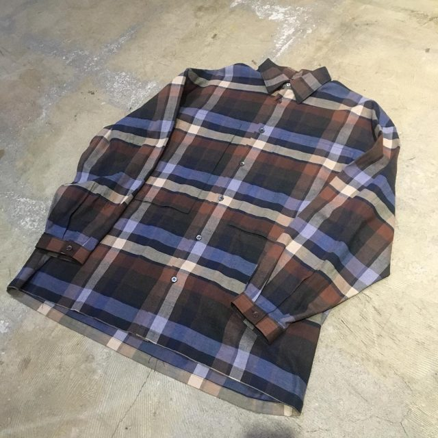 E.tautz 18AW LINEMAN SHIRT BROWN CHECK