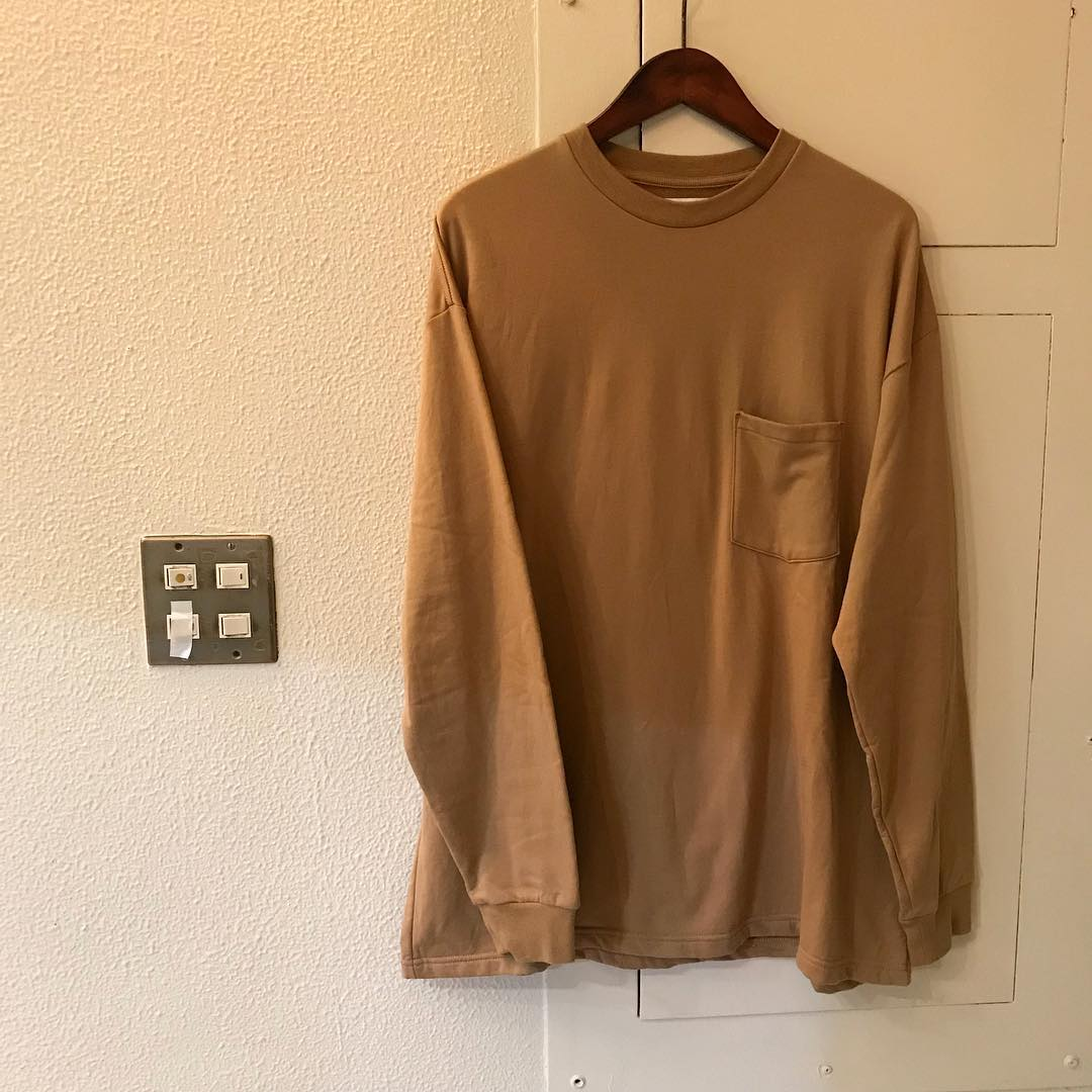 Graphpaper 18AW L/S Pocket Sweat Tee