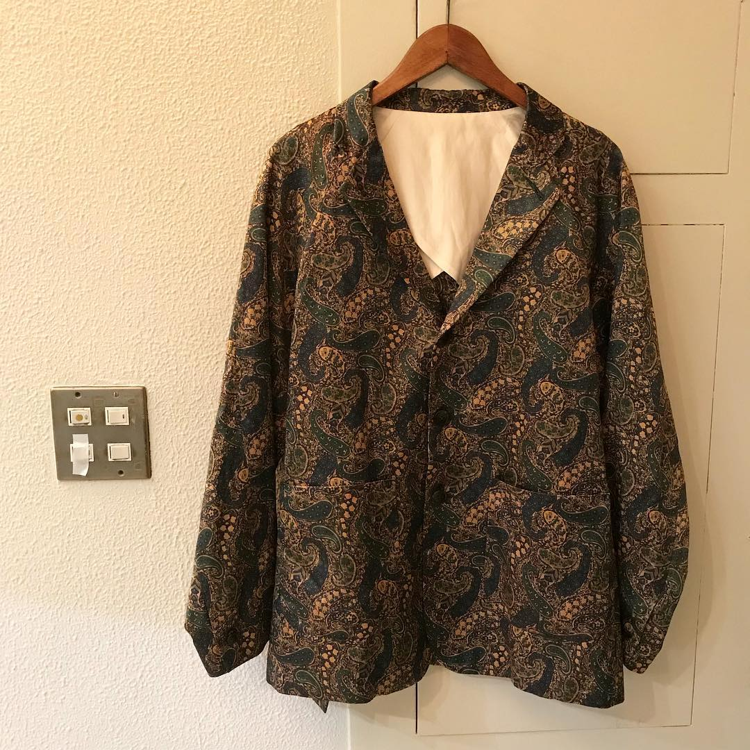Needles 18SS Paisley Pattern Satin 3B Tailored Jacket