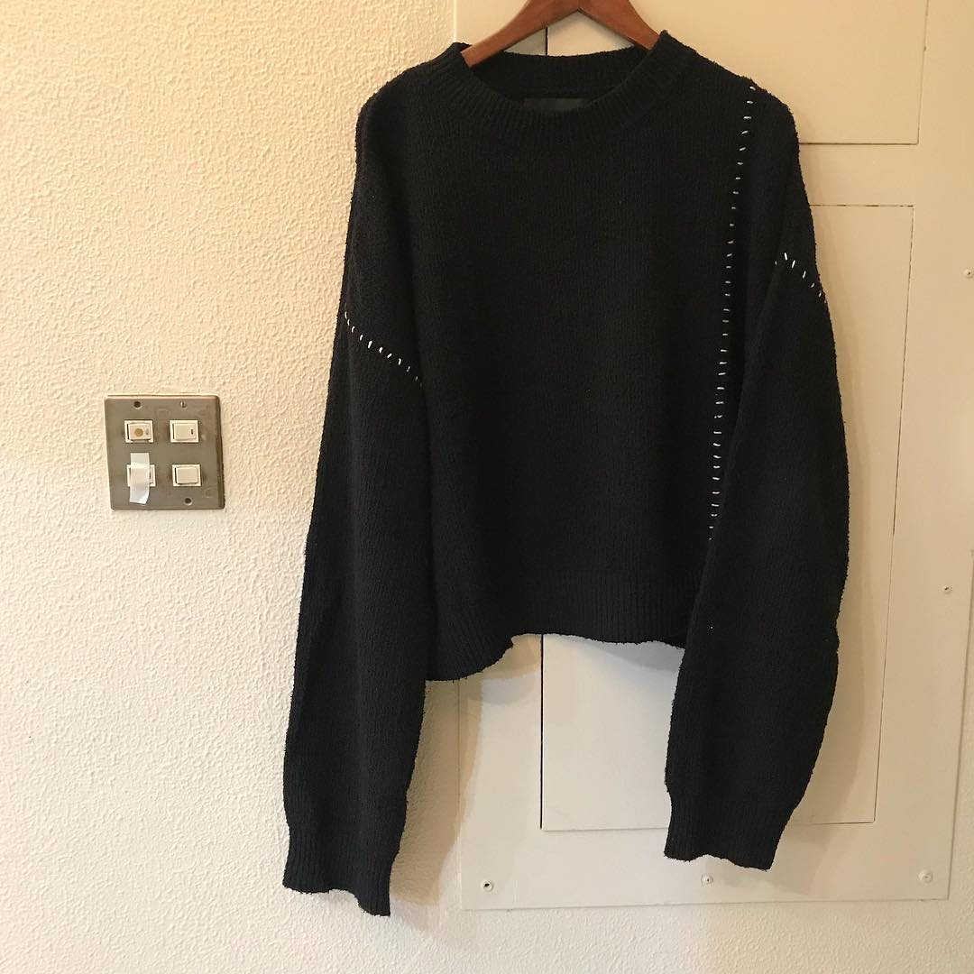 UNUSED 18SS Silk Crew Neck Knit