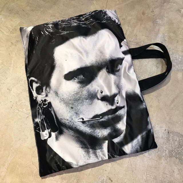 RAF SIMONS ×EASTPAK 19SS RS Poster tote satin Punk