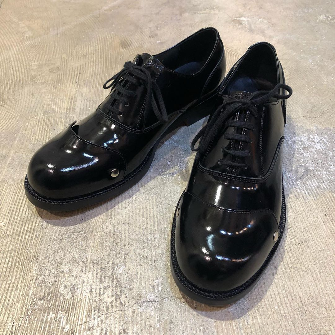 COMME DES GARCONS HOMME PLUS 16AW 甲胄パテントレザーシューズ