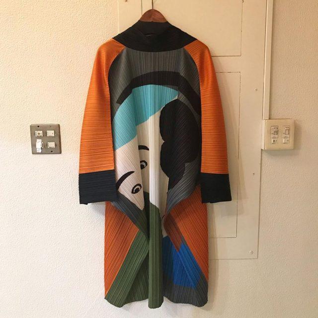 PLEATS PLEASE ISSEY MIYAKE ×IKKO TANAKA 16SS SHARAKU 日本舞踊プリーツ加工着物ジャケット