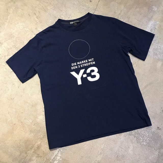 Y-3 18AW Stacked Logo Tee
