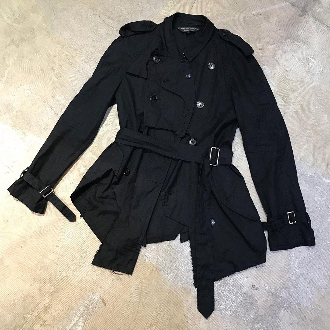 COMME des GARCONS HOMME PLUS 16SS Cut off short trench jacket