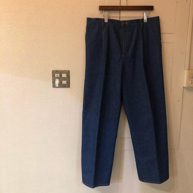 CristaSeya 19AW Japanese Heavy Denim Pleated Trousers