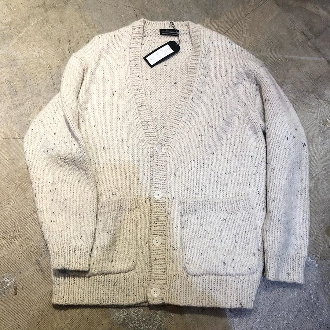 UNUSED 19AW Hand Knit Cardigan