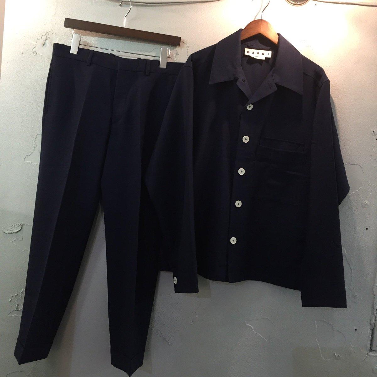 MARNI 16SS look9 ランウェイ着 シャツジャケットセットアップ 48