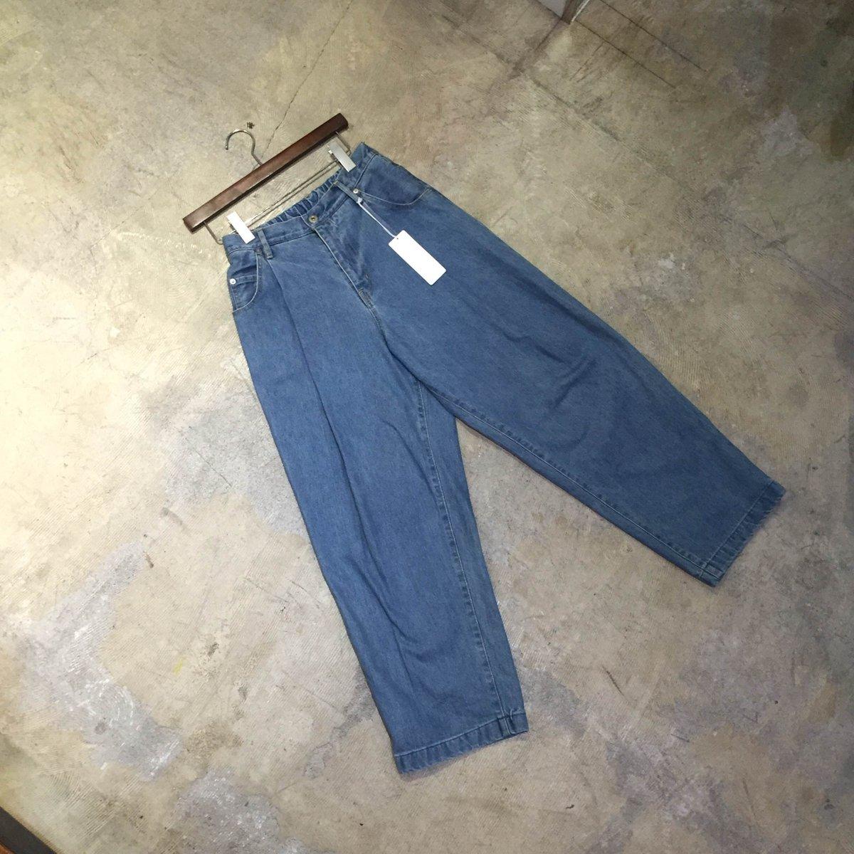 NEON SIGN WIDE DENIM SLACKS PANTS