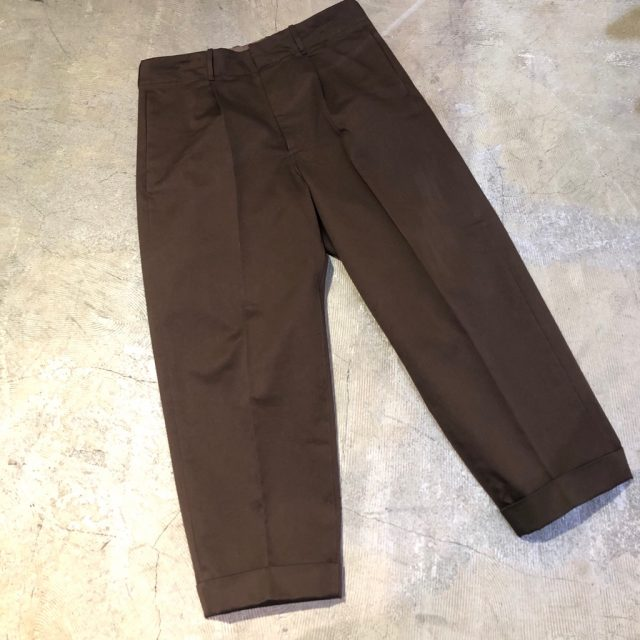 AURALEE 18AW WASHED FINX CHINO TAPERED PANTS