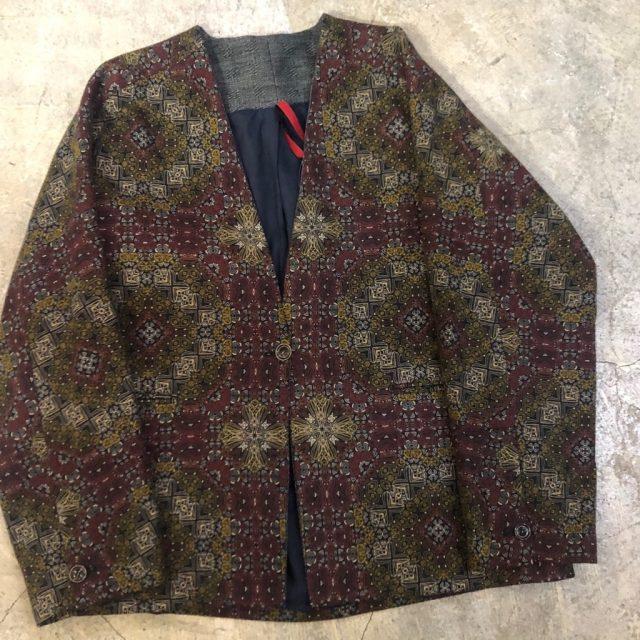 YANTOR 16AW Arabesque Norcollar Jacket