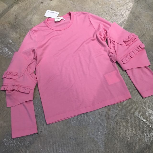COMME des GARCONS 16AW フリル甲冑ウールジャージーカットソー