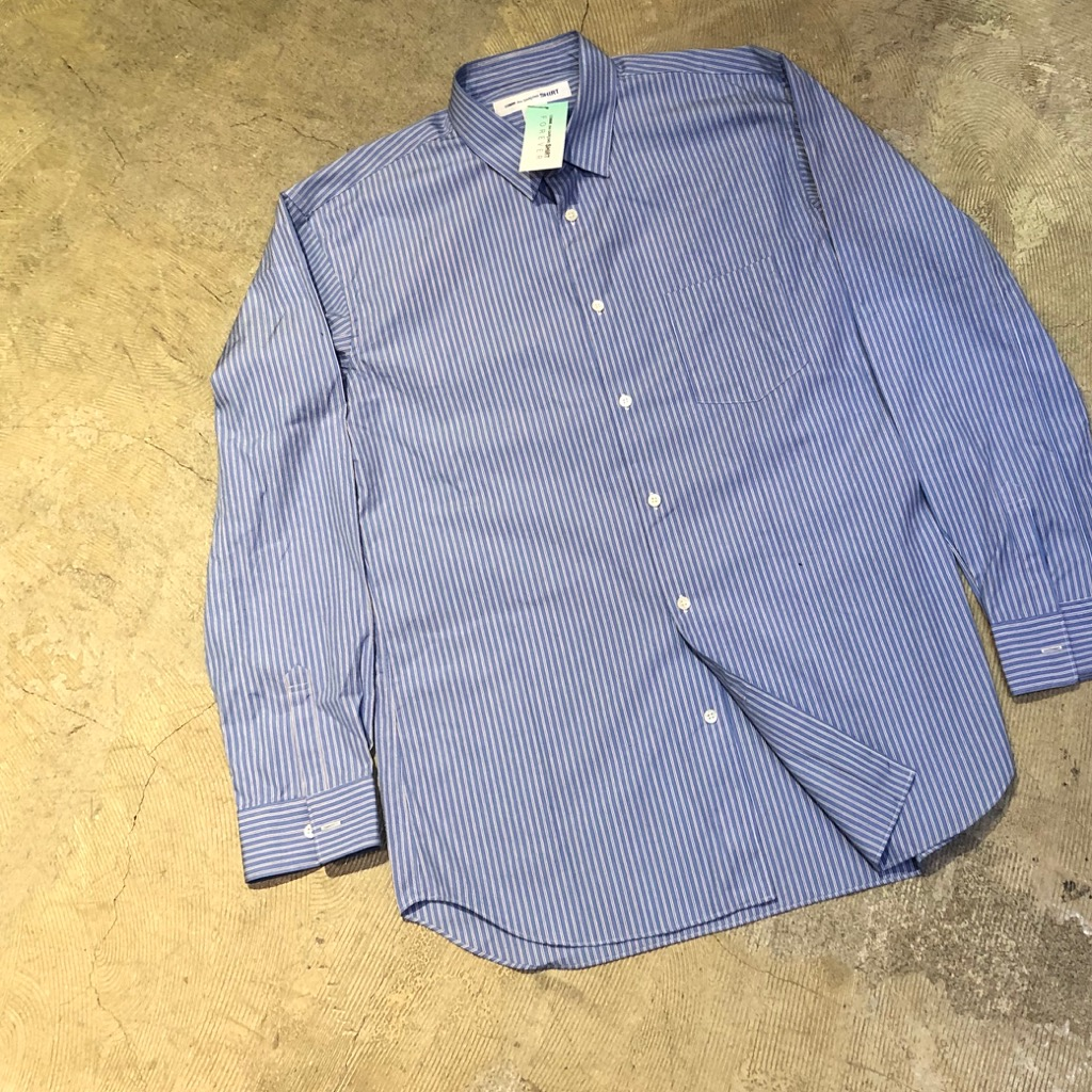 COMME des GARCONS SHIRT 19SS FOREVER LINE ストライプブロードシャツ