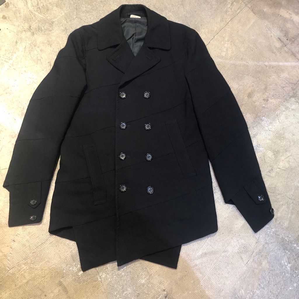 COMME des GARCONS HOMME PLUS 15AW 螺旋捻れウールロングジャケット