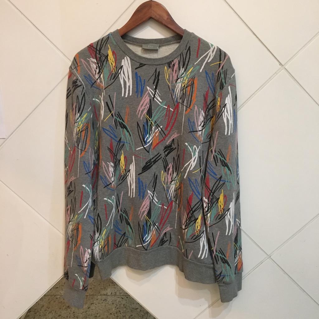Dior HOMME 15SS ペインティングスウェットシャツ