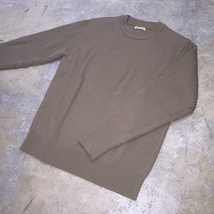 16AW AURALEE SUPERFINE WOOL RIB KNIT PULLOVER