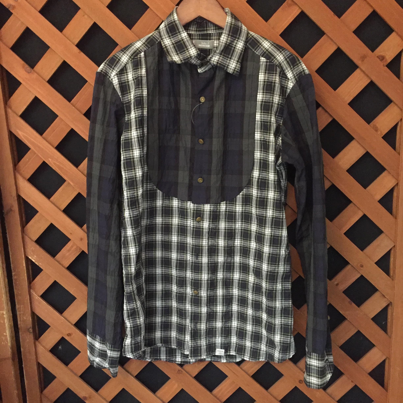 kolor BEACON 16SS シャーリングチェックドレスシャツ 1