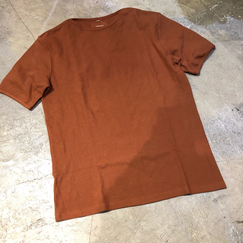 LEMAIRE 18SS ボートネックメッシュTシャツ