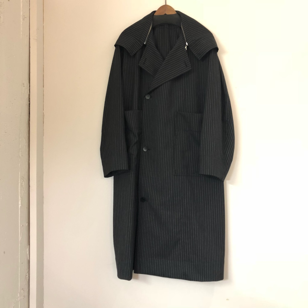 Edwina Horl 18SS PINSTRIPE FOODED COAT