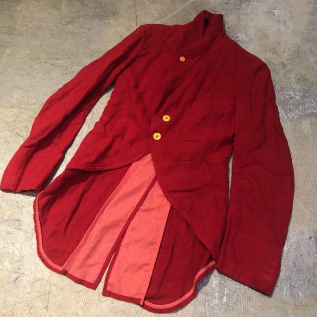 COMME des GARCONS 01SS 製品染めリネンモーニングジャケット