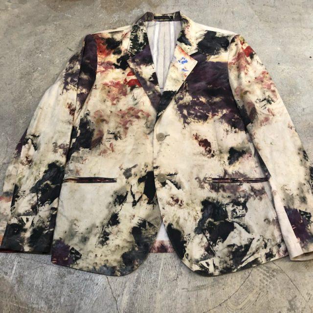 Yohji Yamamoto POUR HOMME 18SS ペインティングジャケット